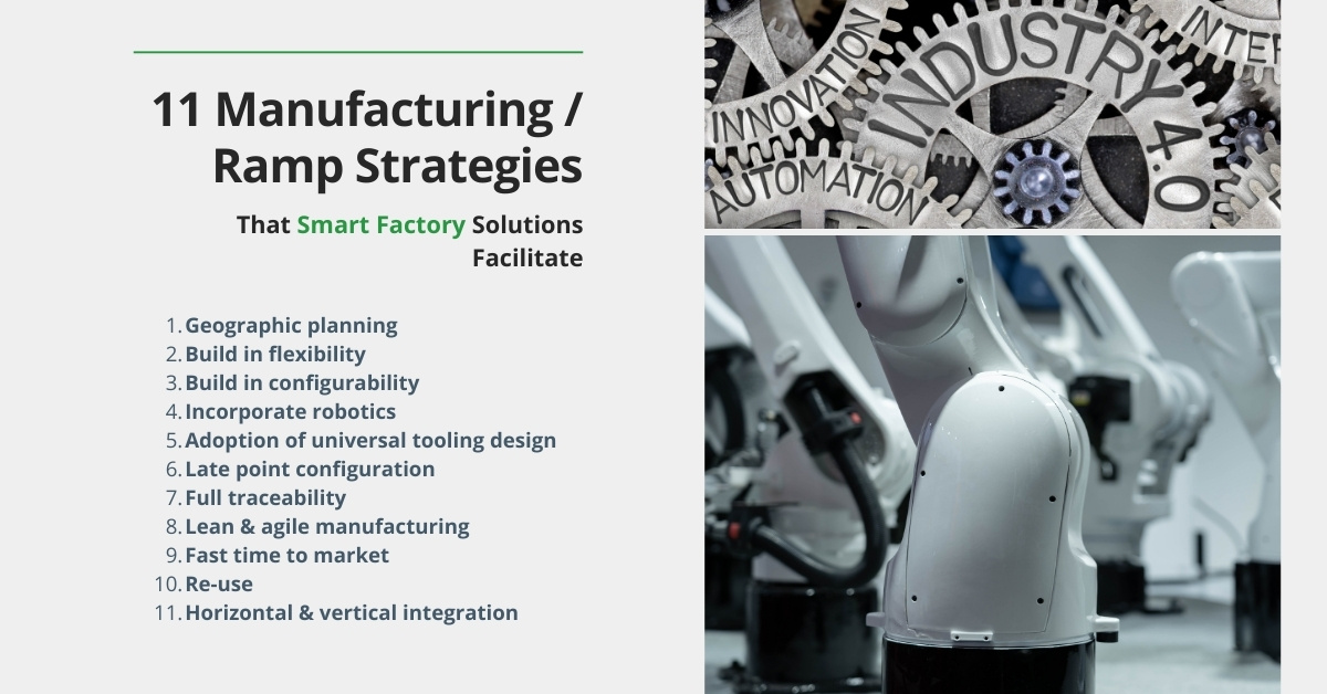 11 manufacturing - ramp strategies that Smart Factory solutions facilitate