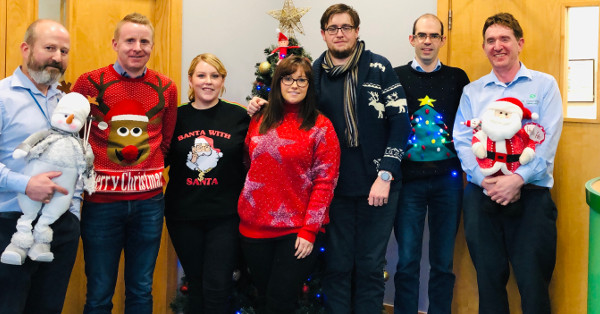 Christmas Jumper Day at SL Controls in Support of the Simon Community