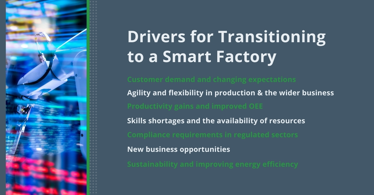 Drivers for Transitioning to a Smart Factory