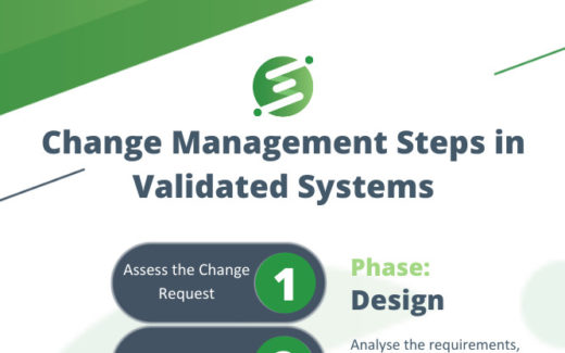 Change Management Steps in Validated Systems Infographic Intro