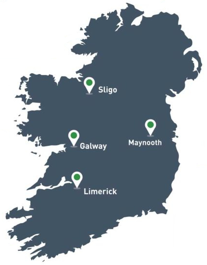 All jobs Ireland map